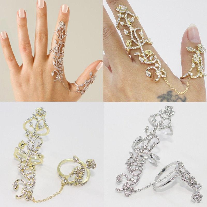 Կանանց կրկնակի մատների մատը ՝ Thumb Ring - Նորաձև զարդեր - Լուսանկար 4