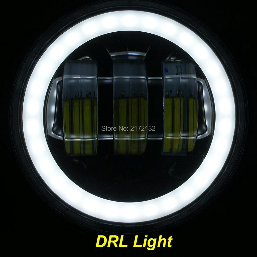 Daymaker Passing light 2pcs 4inch 30W LED Fog Light white Halo Angel Eye DRL For Jeep Wrangler LJ JK