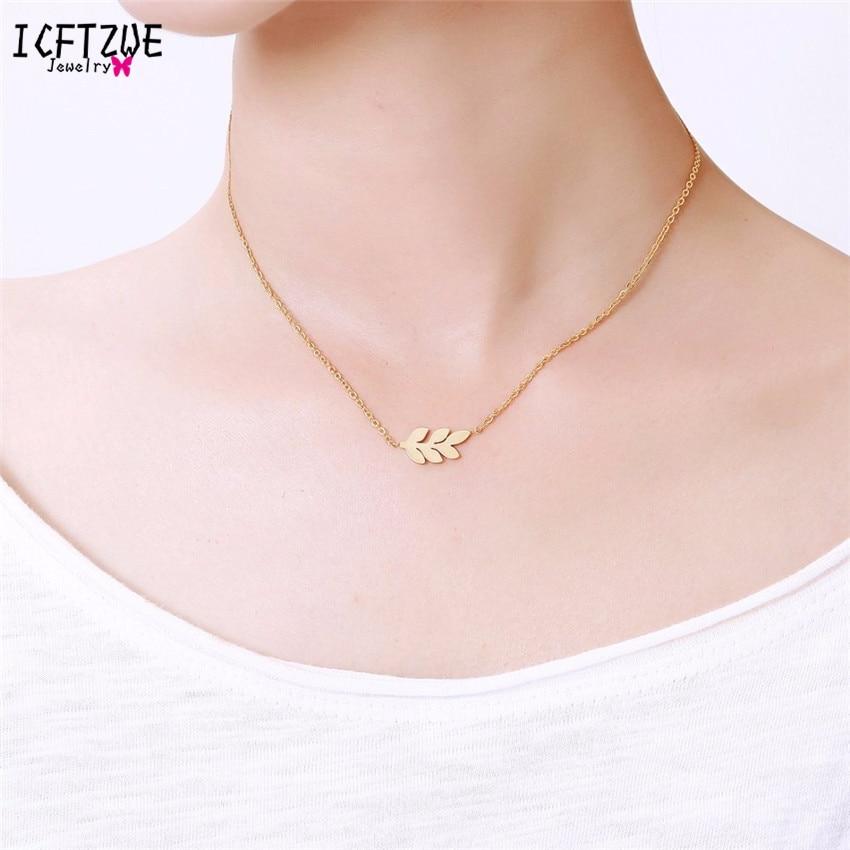 Icftzwe pingente de aço inoxidável colar collier