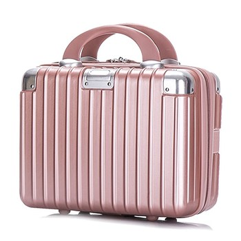Women Bag  Professional Fashion Light Large 14 Inches Mini Zipper Lady Business ABS Suitcase for Make up Bag Cosmetic Travel Box