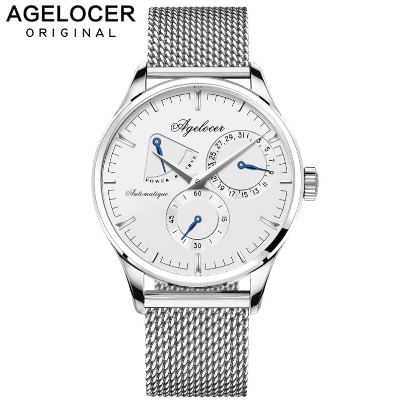 AGELOCER hommes montres Top marque de luxe montre hommes d'affaires conception spéciale montres Sport montres Relogio Masculino pour cadeau