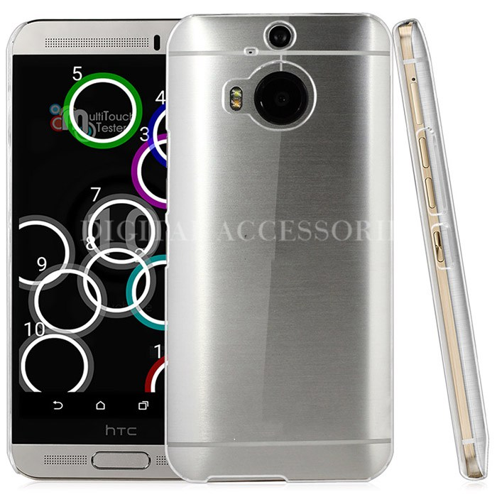 for HTC One M9 Plus Ultra Thin Transparent Dirt-Resistant Plastic Crystal Clear Hard Back Cover Case for HTC One M9 Plus