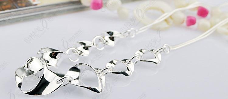 fashion perhiasan wanita kalung, padat asli 925 perak murni liontin - Perhiasan bagus - Foto 3