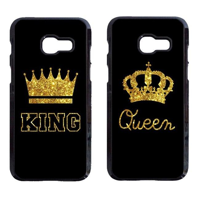 5501cf10fd King Queen Couple Cover Case for iPhone 8 Plus Samsung Galaxy A3 A5 A7 A320  A520 A720 J3 J330 J5 J530 J7 J730 2017