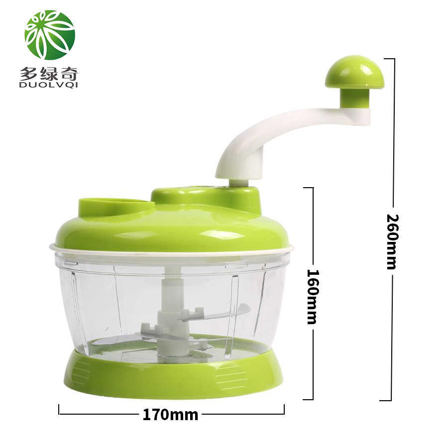 DUOLVQI Rodada Espiral Manual do Cortador de Legumes Cortador de Legumes Multifuncional Mini Portátil Liquidificador Picadora de Alimentos Utensílios de Cozinha