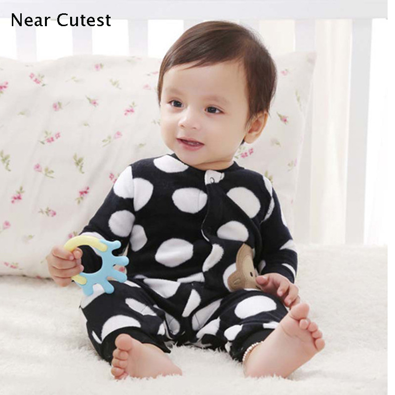 BABY ROMPER 2017 Original Baby Boy Girl Romper Infant Jumpsuit Bebe Overall Long Sleeve Fleece Body Suit Baby Clothing Set