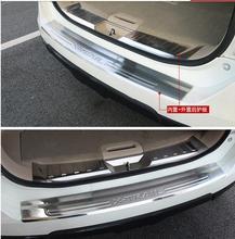 Protector Del Paragolpes trasero Cola Puerta Posterior Del Tronco Guardia 2 unids/set aptos para Nissan x-trail x-trail rogue T32 2014 2015 2016 Alta calidad