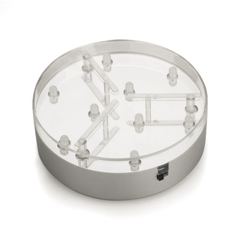 Wholesale!!!  10/lot 4inch LED Under Vase Light 9White LED Centerpiece Light for Wedding Reception Glass  Vase Lighting