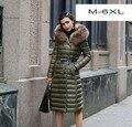 6XL Plus size new winter women down Jacket parkas fashion long Nagymaros collar hooded down coat outwear T776