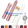 Convex mouth genuine leather watchband 20*12mm watch strap folding Buckle bracelet women band
