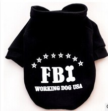 Hollywood Blockbusters FBI Police Type Puppy Dog Hoodies Working Dog Coat Seeing Eye Dog Clothes Sweater Costumes