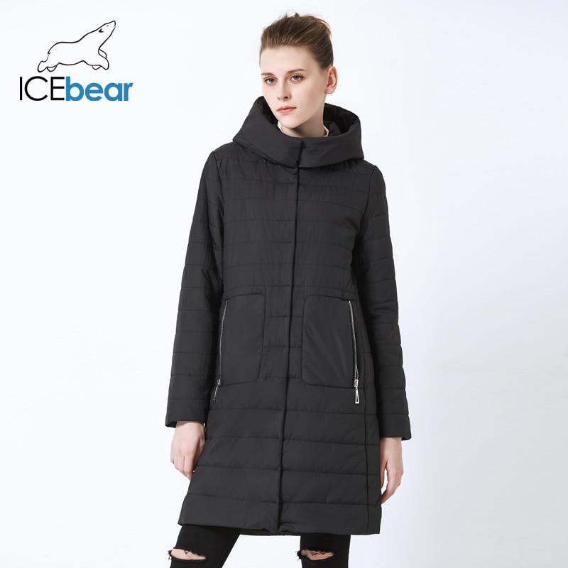 ICEbear 2019 new ladies Fall coat  women hooded cotton  warm women jacket high quality brand female hooded GWC19038I
