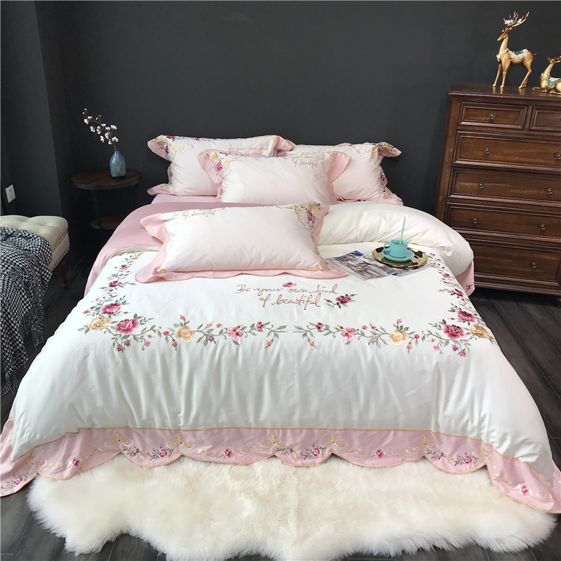 Super King Size Duvet Cover Egyptian Cotton Sweetgalas: Luxury Satin Egyptian Cotton Bedding Set SFlower
