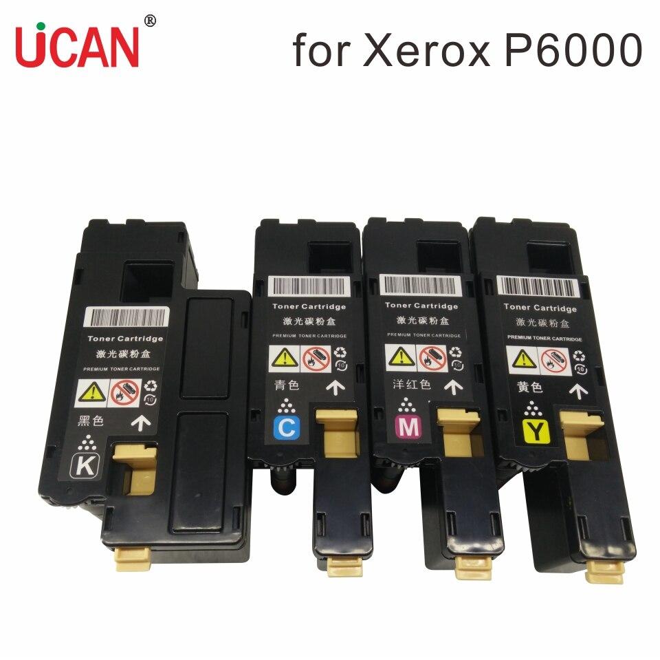 Xerox Phaser 6000 6010 WorkCentre 6015 Printer 106R01630 / 27/28/29 106R01634 / 31/32/33 üçün 4 rəngli tonik kartriclər.