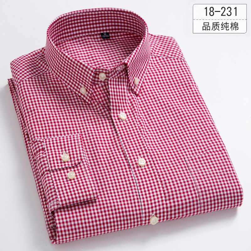 DAVYDAISY 2019 Новое поступление высокое качество Для мужчин рубашка Длинные рукава Человек плед модная повседневная рубашка Марка Формальные Рубашки мягкого DS302
