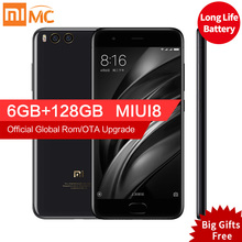"D'origine Xiaomi Mi 6 Mi6 Pro Mobile Téléphone 6 GB RAM 128 GB Snapdragon 835 Octa base 5.15 ""12MP NFC Double Caméras Android 7.1 OS"
