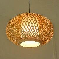 Кольца для вышивки подвесные светильники Ручной Бамбуковая Плетеная Подвесной светильник подвесной светильник, ресторан простой антиквар