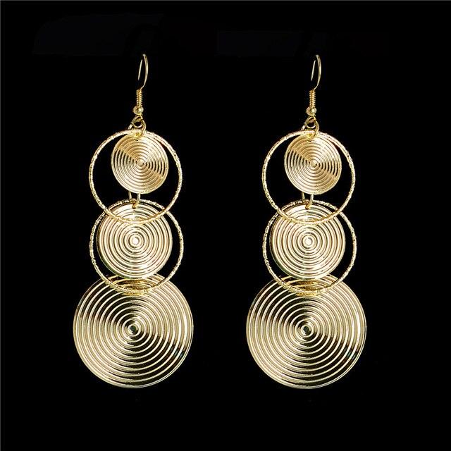 H:HYDE New Arrival Long Earrings Pendientes Mujer Jewelry Round Dangle Earrings