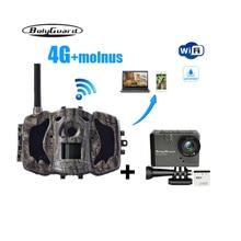 Bolyguard Охота камера 4 г игры trail camere ночное видение MMS GPRS Черный ИК 36MP 1080 P фото ловушки fotolovuska термальность imagers