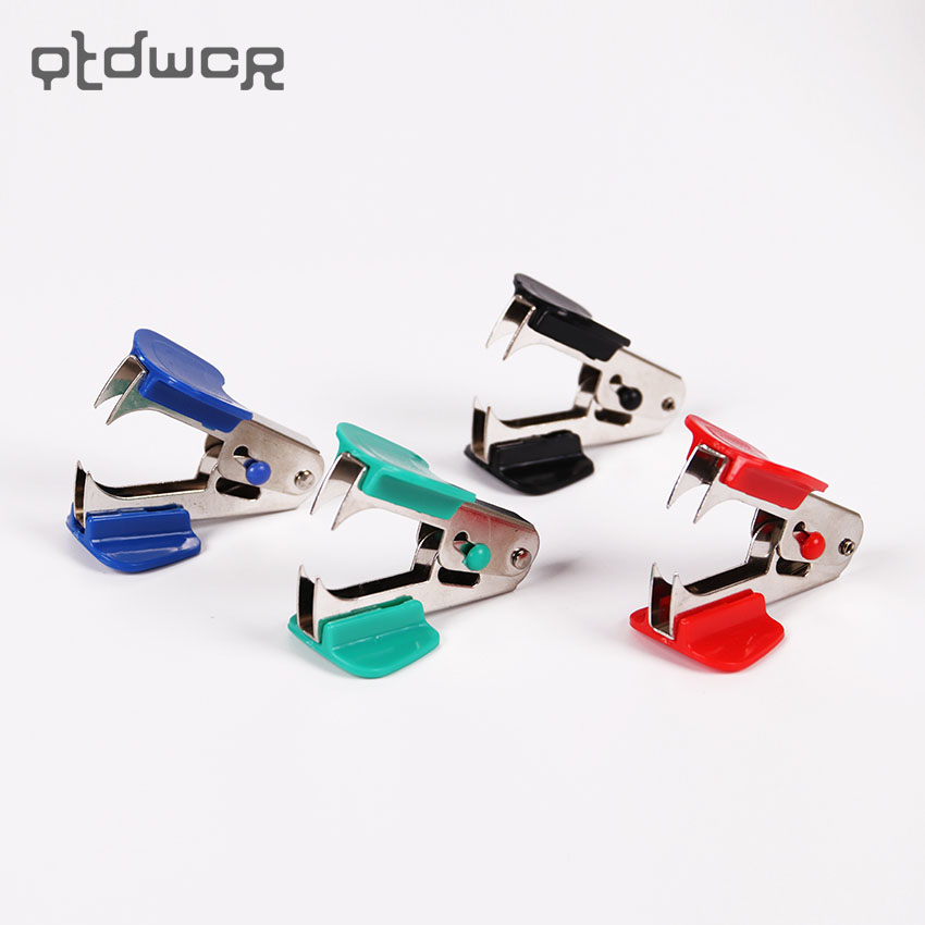 Creative 4 Color Metal Comfortable Handheld Staple Remover School Office Stapler Binding Tool Nail Pull Out Extractor