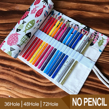 36/48/72 Holes Pencil Case Bag Portable Canvas Roll Up Gift Students Stationary Storage Bag For Painting School Supplies 36 48 holes portable pencil bag roll up pencil case black canvas pencil roll up storage stationery art supply school stitionery