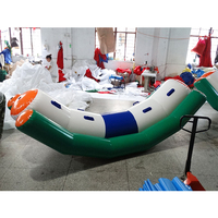 Serviceable Inflatable flying Banana boat inflatable water slide