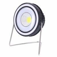 Portátil 2 em 1 de Energia Solar Ao Ar Livre Lâmpada de Acampamento Recarregável LEVOU Caminhadas Luz com 180 Graus de Rotação do Ventilador de Refrigeração