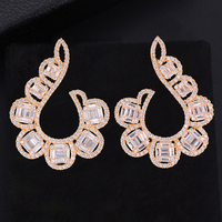 missvikki New Trendy Accessories Shiny CZ Stud Earrings for Women Jewelry 925 Sterling Silver original boucle d'oreille femme