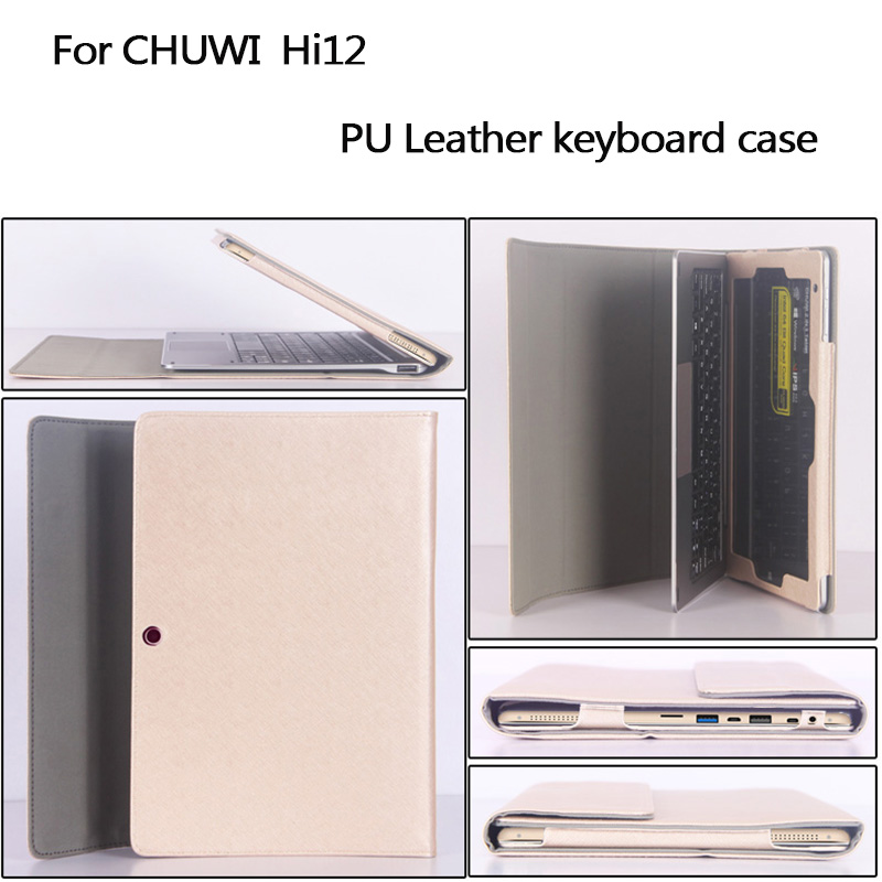 Business stand Pu leather case 12 inch for chuwi tablet PC keyboard Protective sleeve for chuwi hi12 tablet original chuwi hi12 rotating keyboard case protective tablet case removable 12 inch tablet keyboard for hi12 tablet pc stand