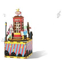 DIY  Assembly House Music Box Music Box Puzzle Ferris Wheel Rotation Model Creative Gifts