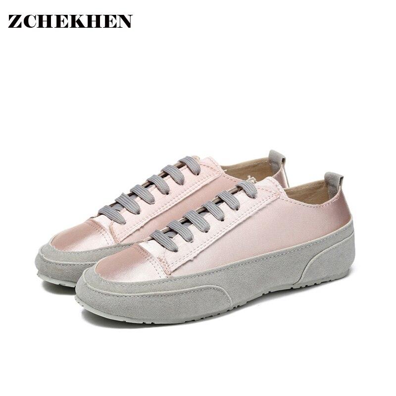 Cómodo Mujeres Del Resorte Del Otoño Zapatos Planos de color rosa España Nicho p