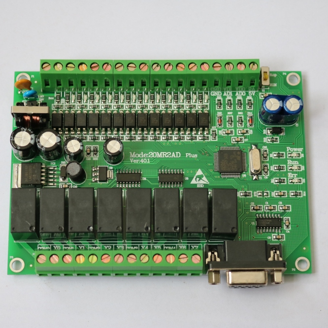 где купить  plc programmable logic controller single board plc 20MR FX2N-2AD 12 input  8output  0~10V  дешево