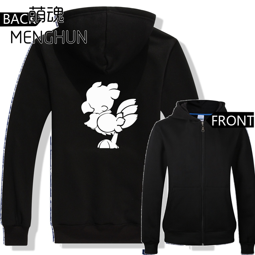 lovely game character printing hoodies FF Chocobo zip-up hoodies men's hoodies for game fans AC596 image