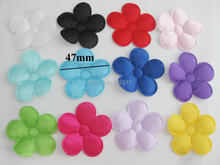 PANVGG 47MM flower appliques 12 colors DIY scrapbooking floral patches 120pcs headwear ornament felt padded