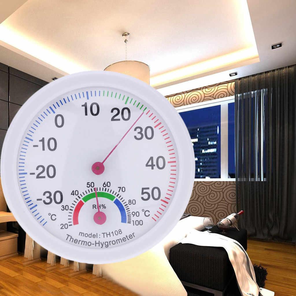 Termómetro exterior Interior medidor de temperatura higrómetro humedad reloj en forma de nueva llegada dropshoping #11,19