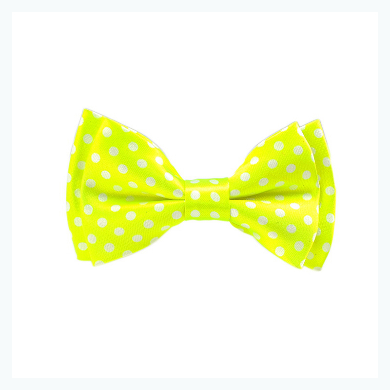 New Neon Yellow Green Fluorescence Children Bow Tie Boy's Girl's Kids