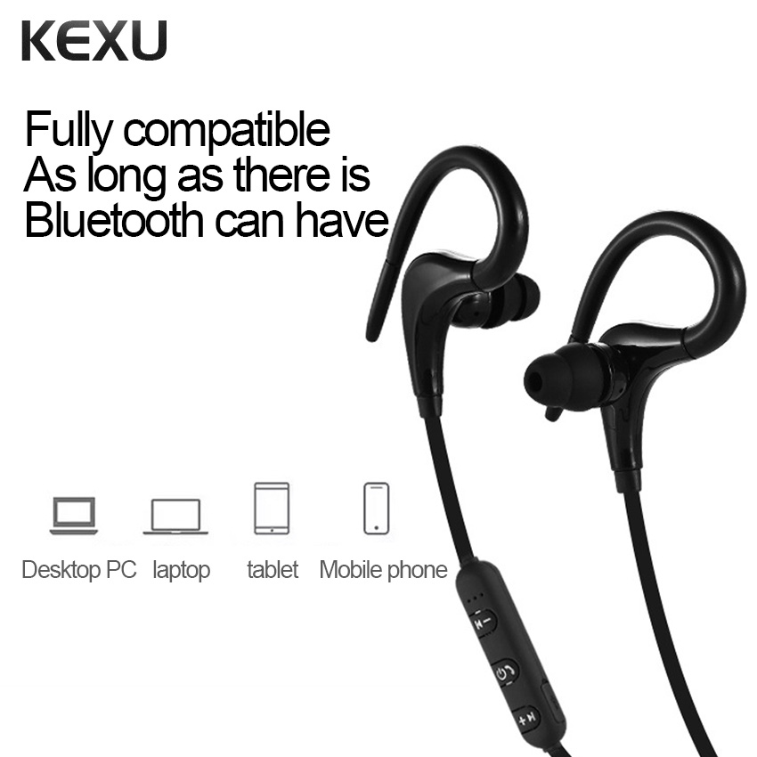 Hot Smart Wireless 4.1 Bluetooth Sports Earphone Voice Control Noise Reduction with Microphone for Phone in Ear Stereo Headset 2016 white and black joway h 08 wireless noise cancelling voice control sports stereo bluetooth v4 0 earphones with microphone