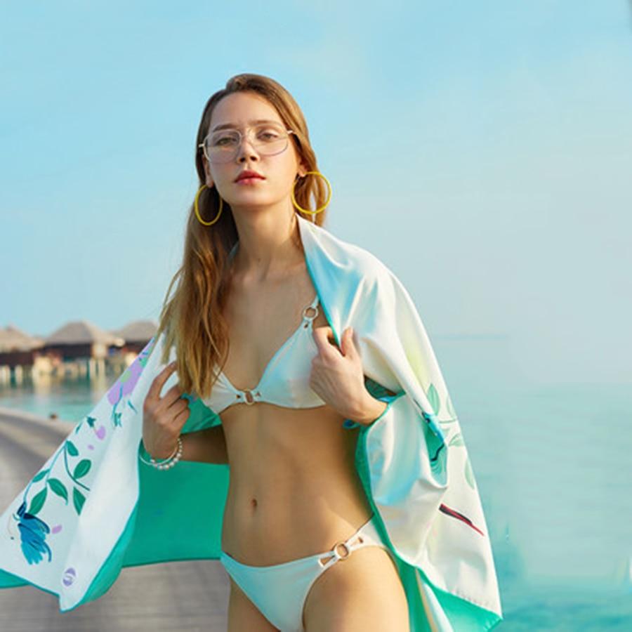 Serviette d'été microfibre plage natation serviette douce absorbe adulte serviette de plage rapide voyages serviette de bain de plage imprimé B6T