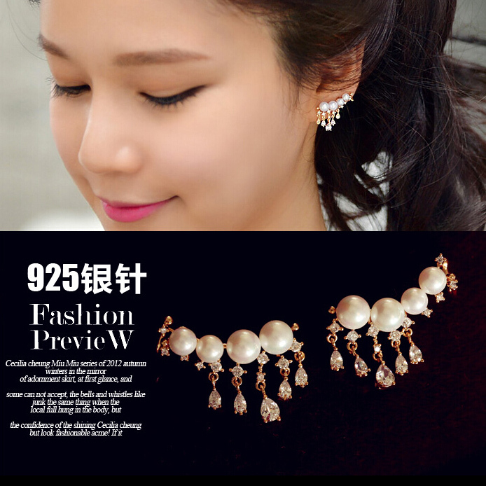 female on lovely silver flash onlineshopchina plated wild long popular pinterest five beads most tassel images best super paragraph fashion models drop jewelry retro earrings