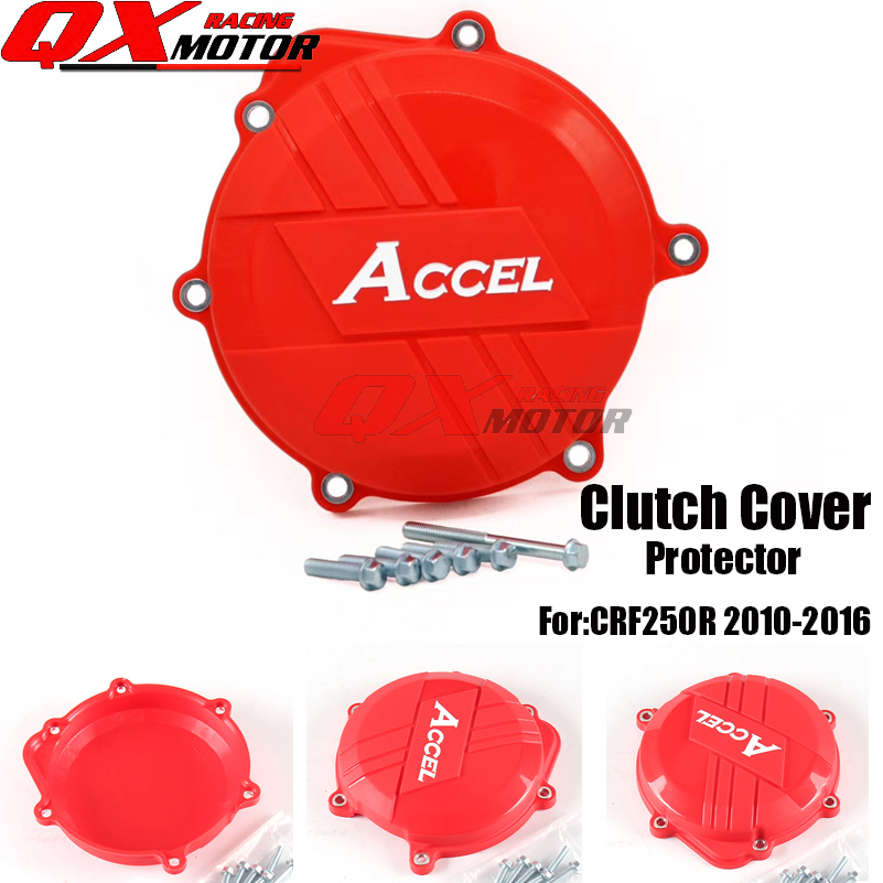 Plastic Motorcycle Clutch Cover Protector Clutch Protection For Honda CRF 250R CRF250R 2010-2016 MX Motocross free shipping free shipping motorcycle cnc clutch