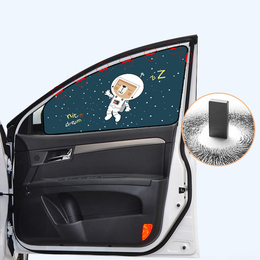 Image 3 - Universal Magnetic Car Cover Sunshade Curtain Car Vehicle Window Sun Visor Cover Protector for Baby Children-in Side Window Sunshades from Automobiles & Motorcycles