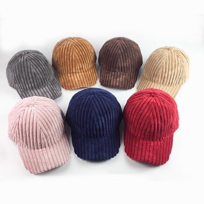 fashion women winter hats candy color girls curved caps baseball casual striped visor solid sports ski brand
