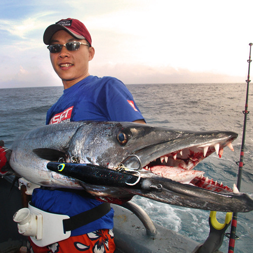 Sft super vissen play golven 275mm/215g gegrilde handgemaakte hout drijvende wave potlood vormige weg sub aas lokken - 2