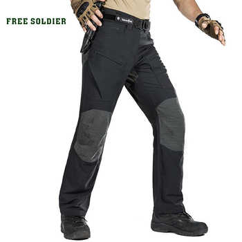 FREE SOLDIER Outdoor sports tactical military cargo pants men\'s trousers wear-resistant pants for camping hiking - DISCOUNT ITEM  47 OFF Sports & Entertainment