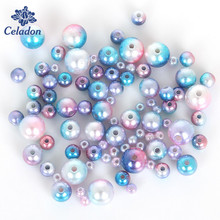 Promotion! 4 6 8 10mm Multicolor Plastic ABS Imitation Pearl Beads Loose Spacer Beads Fit DIY Bracelet Jewelry Making