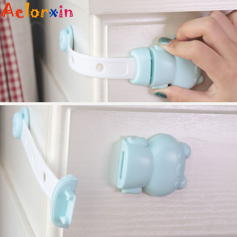 1Pcs Animal FrogCabinet Lock Child Safety Baby Protection From Children Safe Locks For Refrigerators Baby Security Drawer Latch