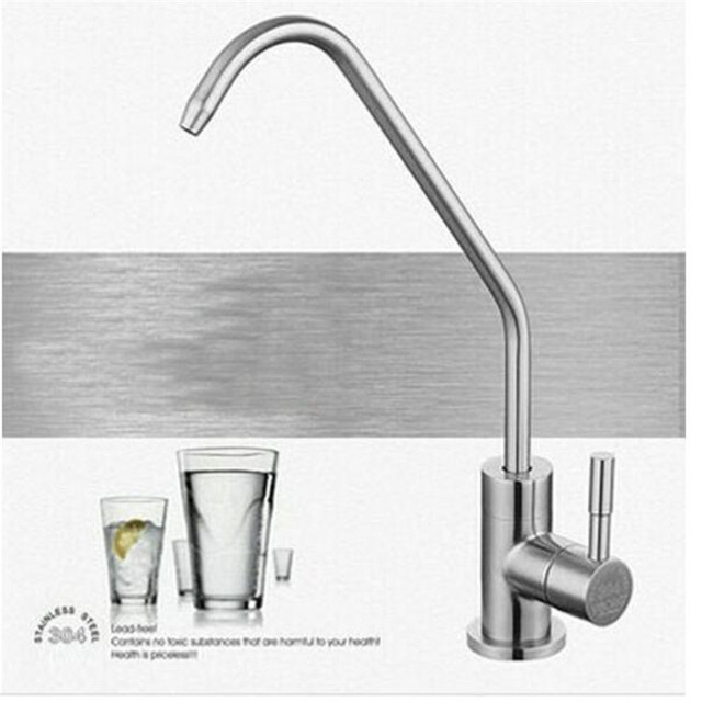 Drinking Water Filter System Tap SUS304 Stainless Steel Lead free Kitchen  Drinking Water Filter TapAliexpress com   Buy Drinking Water Filter System Tap SUS304  . Water Filter Faucet Stainless Steel. Home Design Ideas