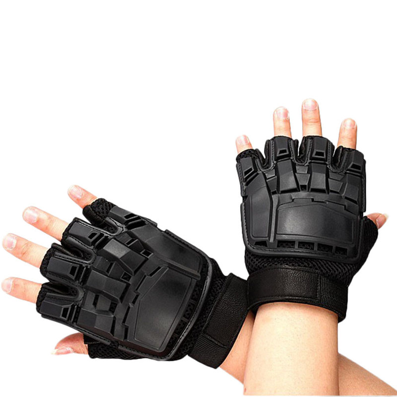 Unisex Men Women Winter Warm Tactical Gloves Half Finger Bicycle Gloves Mittens Guantes Eldiven Handschoenen 40FE20