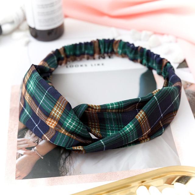 Women  Headband Vintage Cross Knot Elastic Hair Bands Soft Solid Girls Hairband Hair Accessories 3