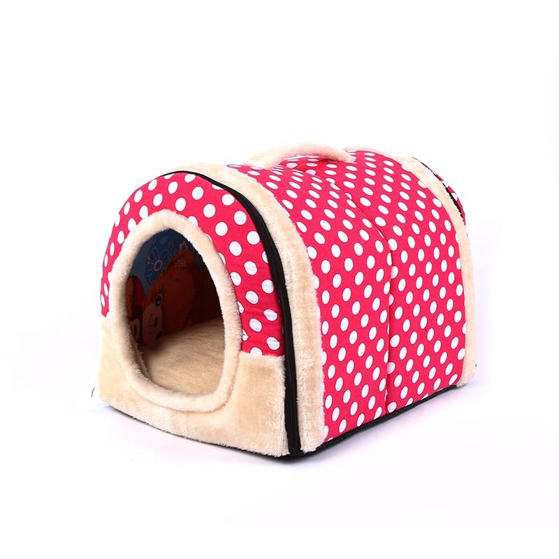 3 Size Draagbare Huisdier Hond Kat Huis Opvouwbare Warme Gezellige Huisdier Huis Pluche Doek Leuke Kennel Voor Universele Hond Kat Huisdier Slaapbank Factory Direct Selling Prijs